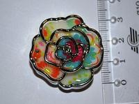 Бусина пластиковая роза