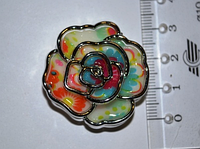 Намистина пластикова троянда