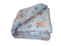 Детское одеяло в кроватку из Бязи Голд наполнитель Силикон - 105х135