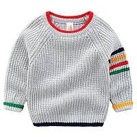 Теплый вязанный цветной свитер  , Final Sale -40%, размеры: 130см,140см
