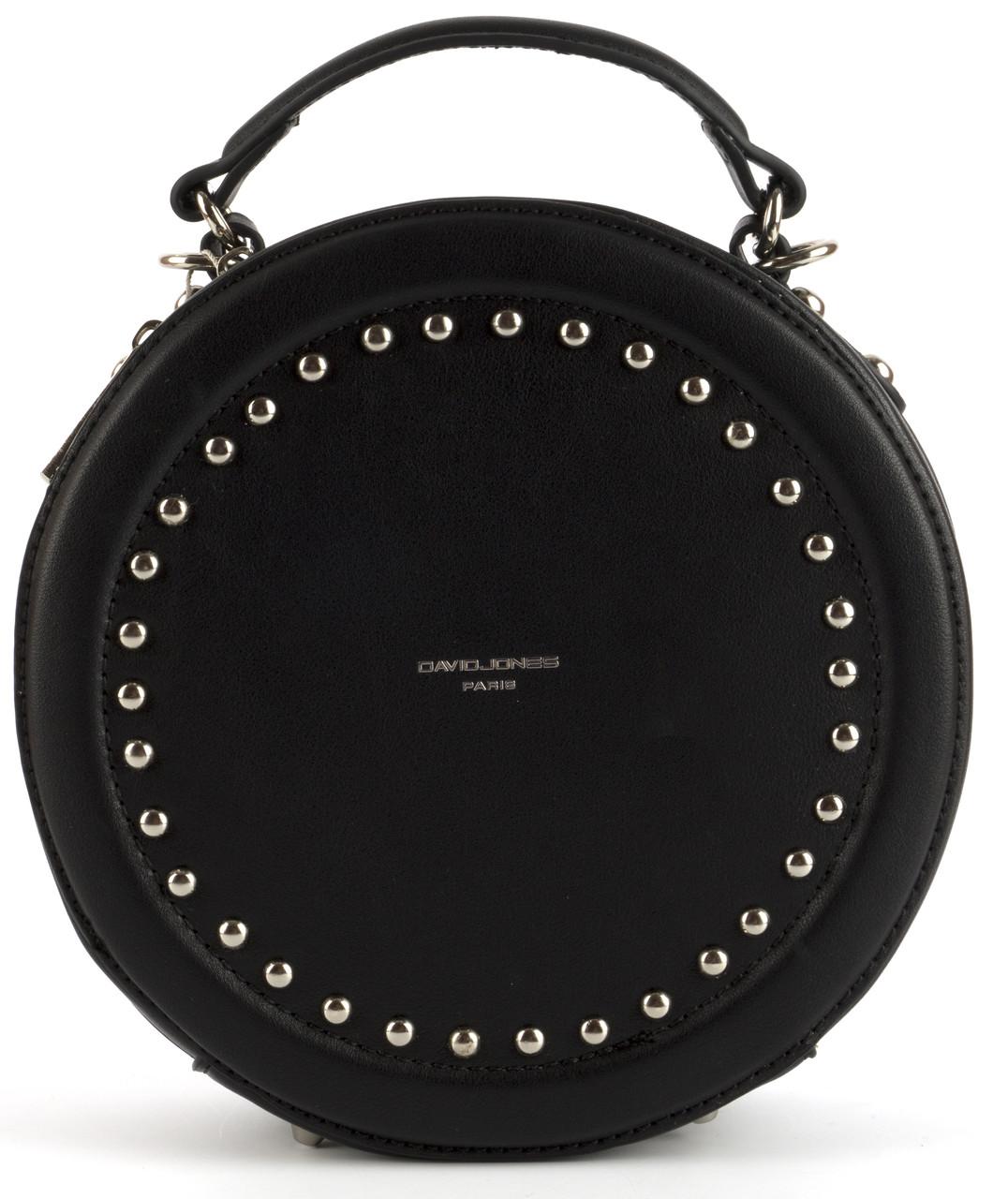 Стильная небольшая качественная круглая сумочка на плечо David Jones art. CM3585