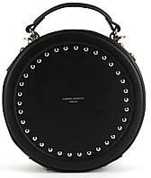 Стильная небольшая качественная круглая сумочка на плечо David Jones art. CM3585, фото 1