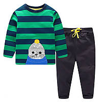 Комплект пижама с морским котиком  , распродажа склада: 4T,5T,6T,7T