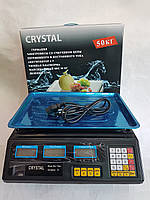 Весы электронные с калькулятором Crystal 50 kg