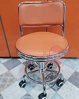 Оранжевый парикмахерское кресло со спинкой , фото 1