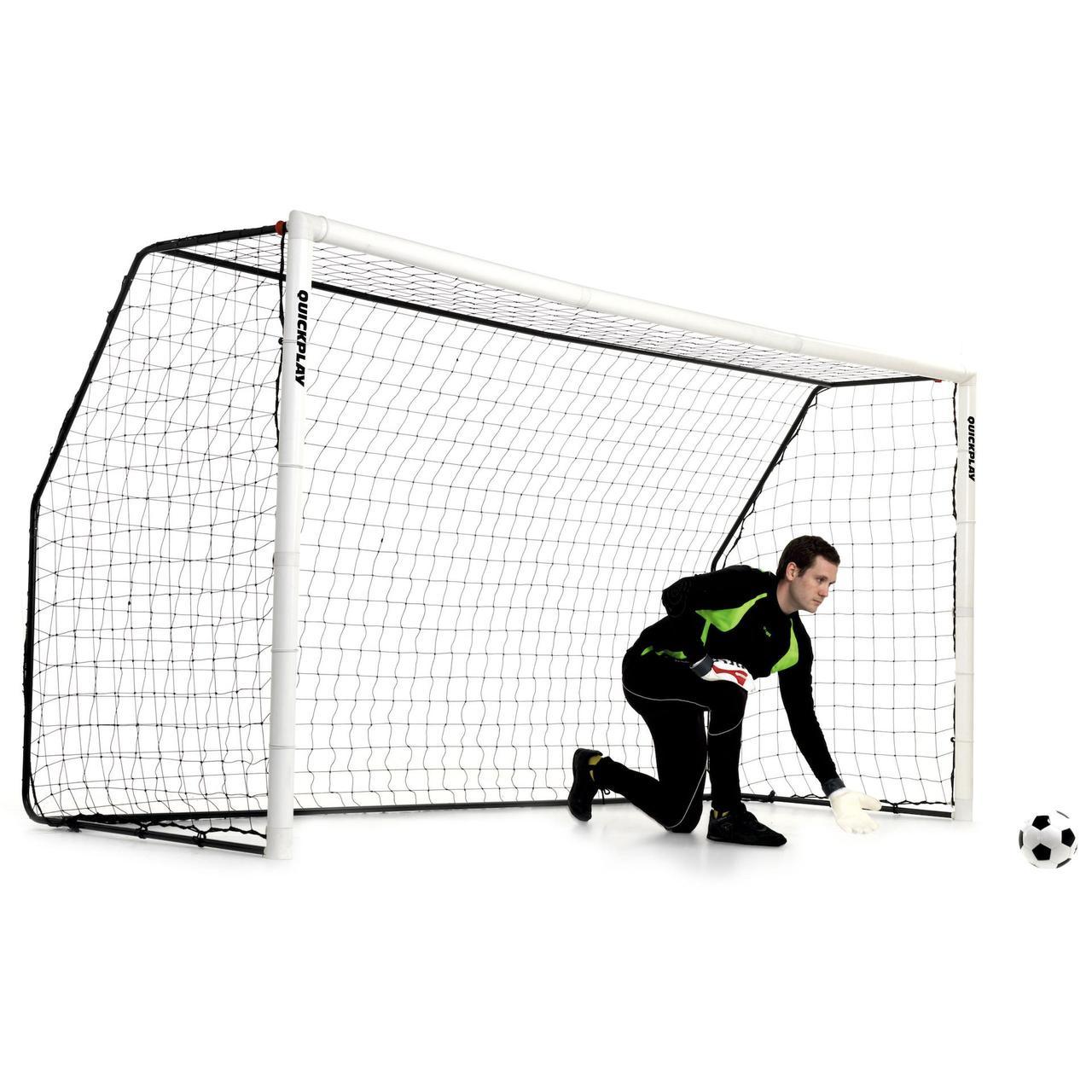 Футбольные ворота (жесткие) QUICKPLAY MATCH FOLD - 3,7 х 1,8 м.