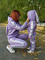 Теплые костюмы или комбинезоны Зайчишка для мамы и дочки Family Look Фэмили Лук