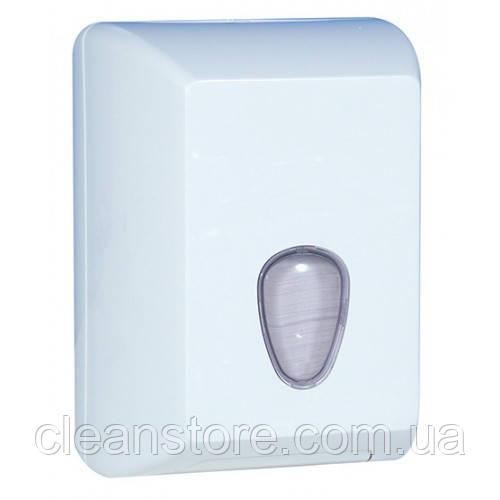 Держатель туалетной бумаги V пластик белый