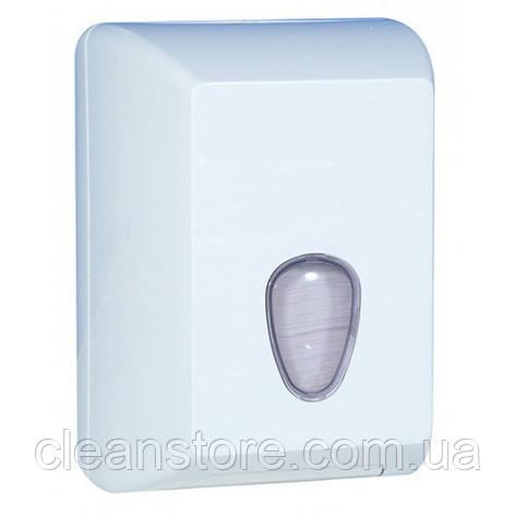 Держатель туалетной бумаги V пластик белый, фото 2