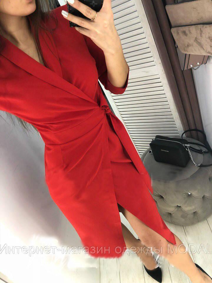 d5c98694b4d9cea Стильное платье на запах красного цвета, цена 400 грн., купить в Киеве —  Prom.ua (ID#929991294)
