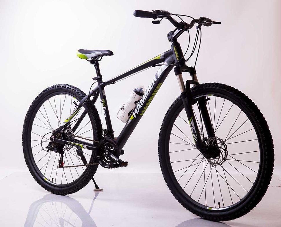 "Велосипед 2-х кол. S200 Hammer 29"" черно-зеленый рама 19"