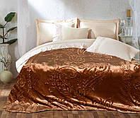 Мягкое двустороннее покрывало - Флис с рисунком - Шоколад