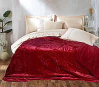 Мягкое двустороннее покрывало - Флис с рисунком - Красный