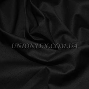 Ткань коттон стрейч черный