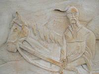 """Картина на камне """"Казак с конем"""", фото 1"""