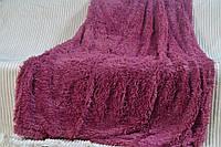 Пушистое покрывало Травка - Полуторное - Фиолетовый