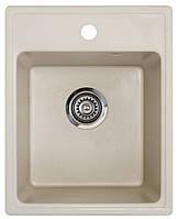 Кухонная мойка Metalac Inko X granit-QUADRO 40 (175426) шампань + сифон