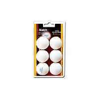Набор мячей для настольного тенниса Enebe 6 BALLS NB MATCH WHITE 40MM
