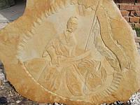 """Картина на камне """"Казак на коне"""", фото 1"""