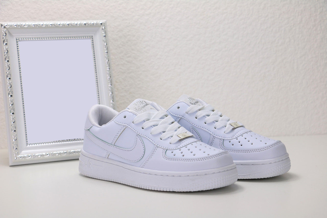 Женские белые кожаные кроссовки Nike air force 1 low, найк еир форс