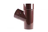 Трійник Profil 100/75/67 90 коричневий, фото 2