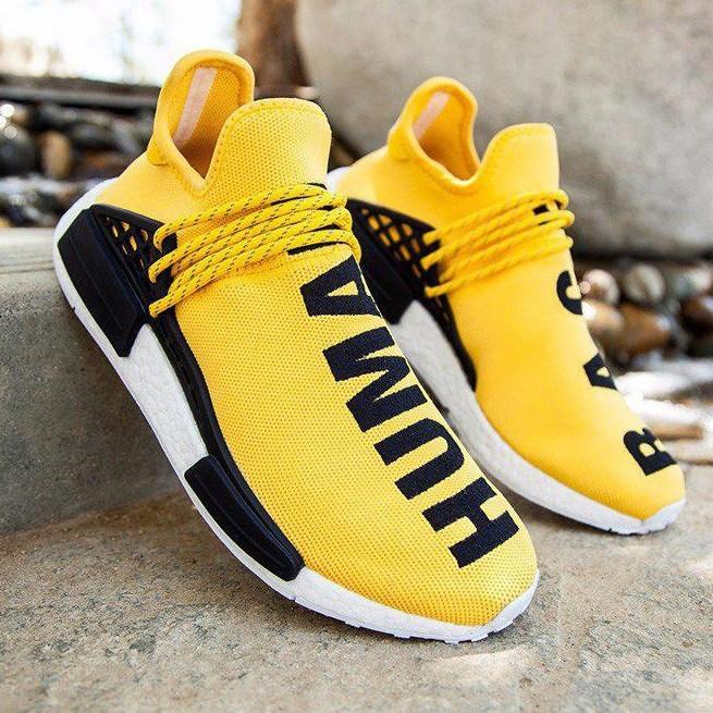 990af1b1636074 Мужские кроссовки Adidas NMD Pharrell Williams x 'Human Race' Yellow. B  Живое фото