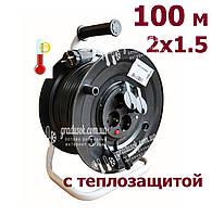 Удлинитель на катушке Bemis 100 м - 2х1,5 мм, фото 1