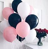 Фонтан из шаров с гелием Белый,Фиолетовый,Сиреневый Пастель 30 см.20 шт., фото 3