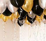 Фонтан из шаров с гелием Белый,Фиолетовый,Сиреневый Пастель 30 см.20 шт., фото 4