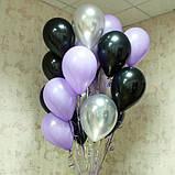 Фонтан из шаров с гелием Белый,Фиолетовый,Сиреневый Пастель 30 см.20 шт., фото 6