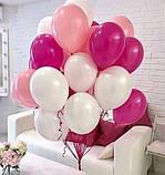 Фонтан из шаров с гелием Белый,Фиолетовый,Сиреневый Пастель 30 см.20 шт., фото 10