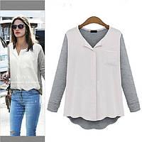 Женская блуза-кофта, Серый, XL