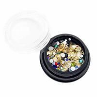 Декор для ногтей Global Fashion, морская тематика (ракушки, кристаллы) DEK 04-3