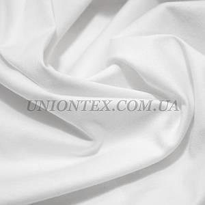 Ткань коттон стрейч белый (молочный оттенок)