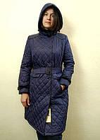 Демисезонное синее женское пальто с капюшоном, Savage