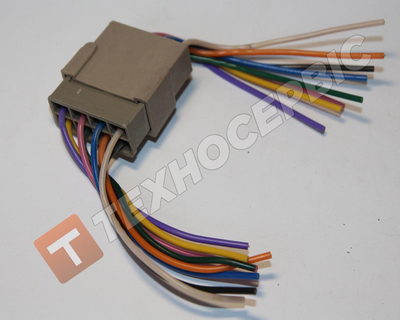 Разъем с ответной частью 8-ти контактный с проводами