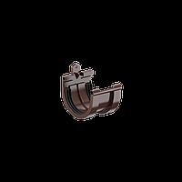З'єднувач ринви Fitt 125 коричневий