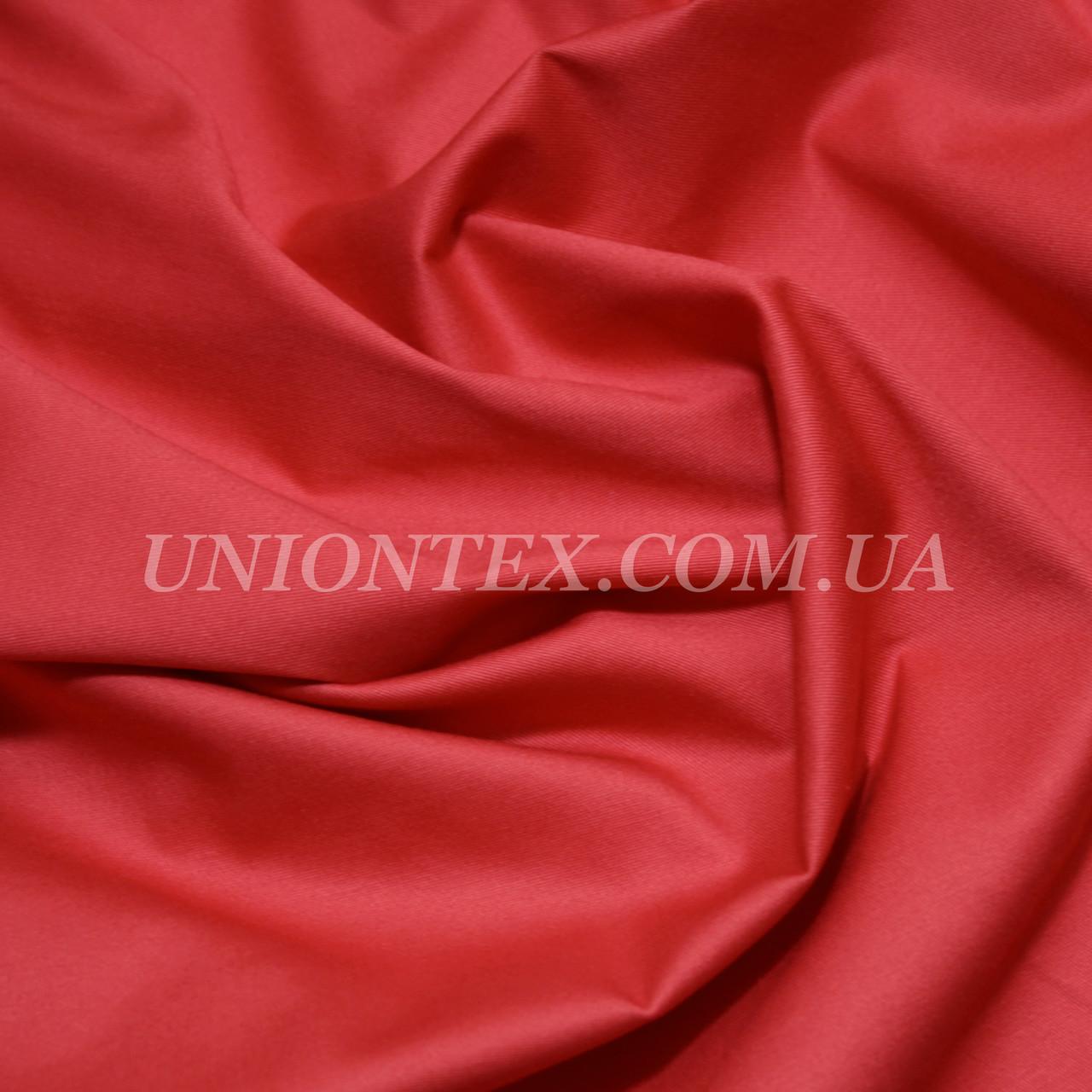 Ткань коттон стрейч красный