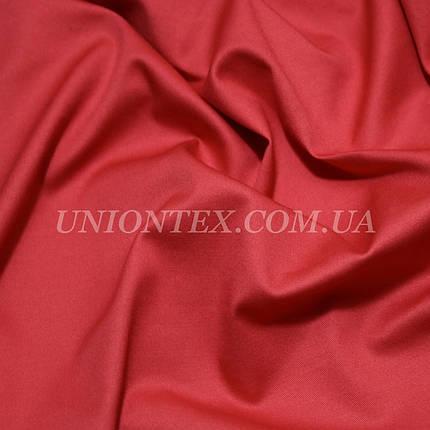 Ткань коттон стрейч красный, фото 2