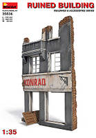 Сборная пластиковая модель. Разрушенное здание.1/35 MINIART 35536