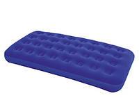 Матрас надувной, матрас для плавания BW Велюр матрац 67001  синий, одноместный, 188-99-22см