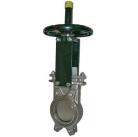 Шиберная задвижка стальная DN150 PN 10 с ручным приводом однонаправленная серия А (СМО Испания)