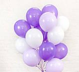 Фонтан из шаров с гелием Фуксия,Аквамарин Пастель 30 см.20 шт., фото 4