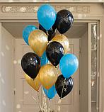 Фонтан из шаров с гелием Фуксия,Аквамарин Пастель 30 см.20 шт., фото 5