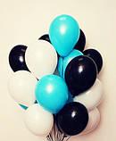 Фонтан из шаров с гелием Фуксия,Аквамарин Пастель 30 см.20 шт., фото 6