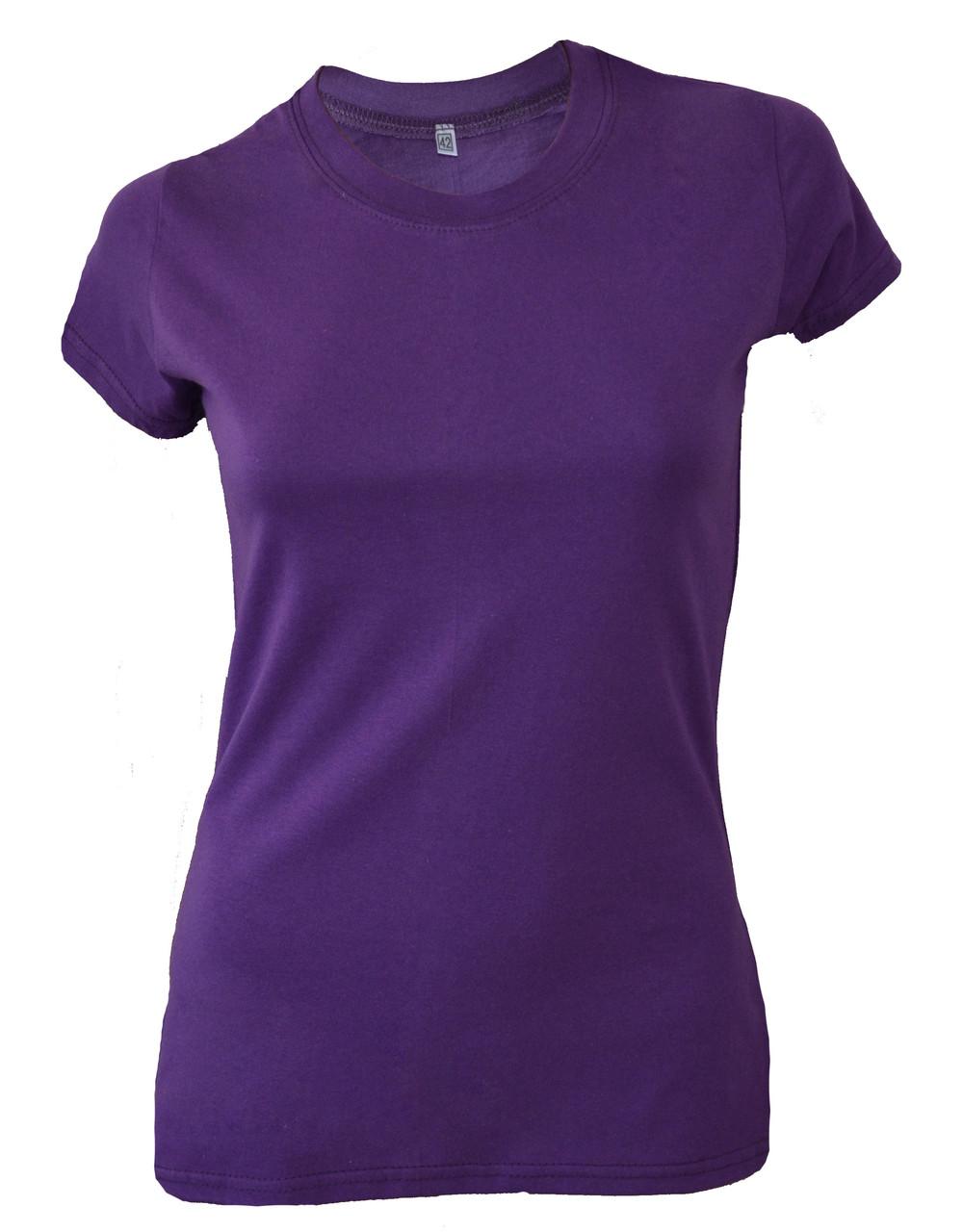 Футболка женская фиолетовая с разрезами по бокам