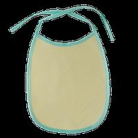 Нагрудник детский водонепроницаемый (слюнявчик непромокаемый) желтый с цветной окантовкой