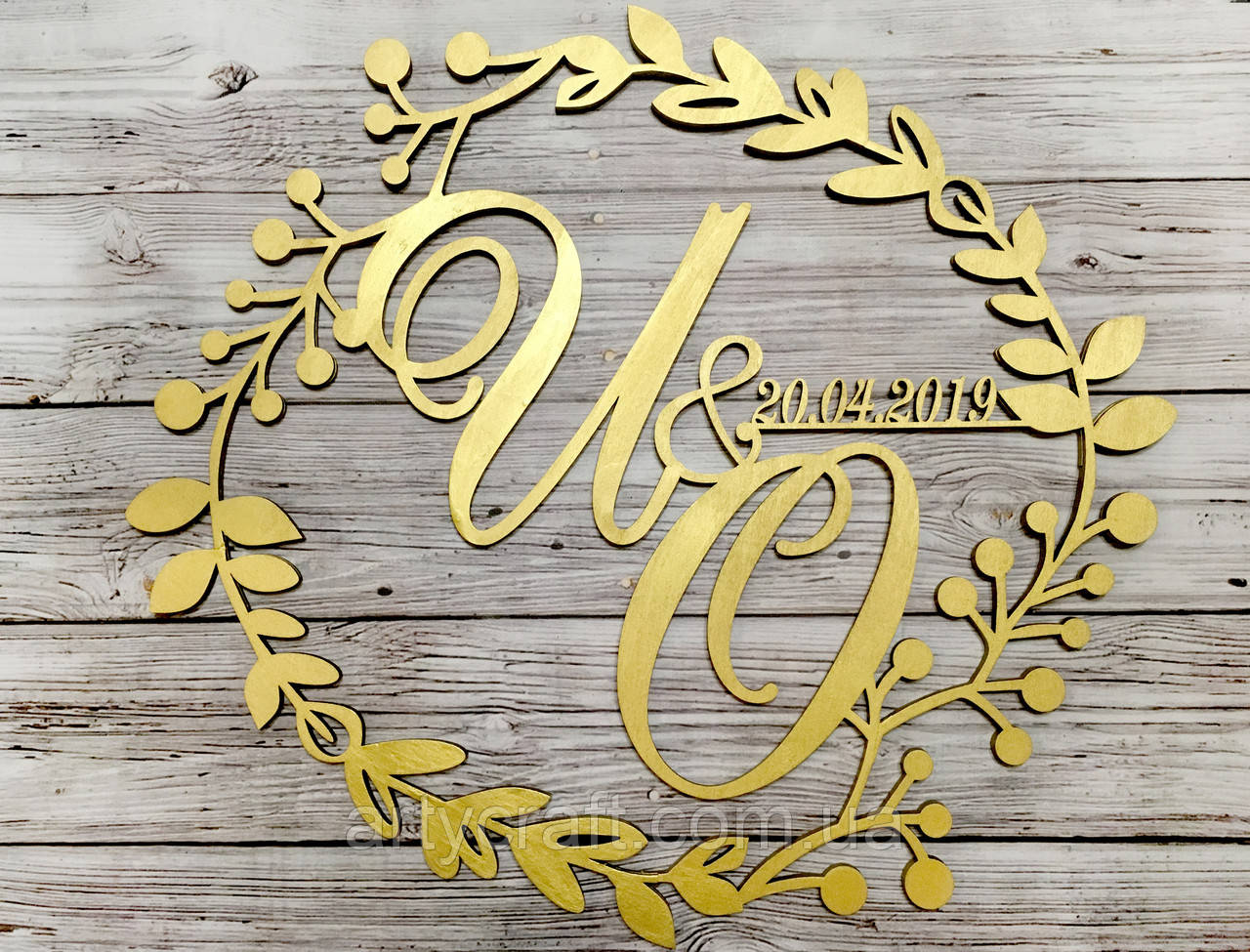 Свадебная монограмма (№14)