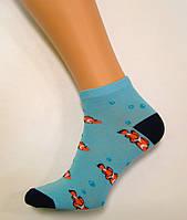 Заниженные цветные носки хлопковые с рисунком 39-41р