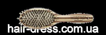 Щітка для волосся бамбукова овальна з комбінованою щетиною